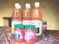 Pineapple juice and jam