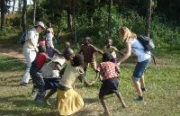Fun with Rwandan children