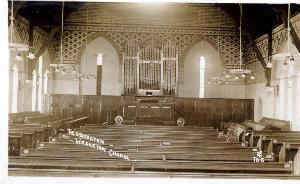 Interior of church, pre 1922