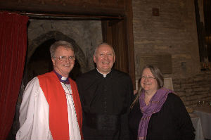 Father Tom Helen his wife and Bishop Tony