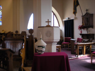 font in church