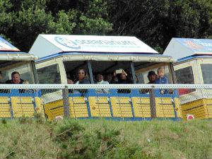 A ride on the beach train