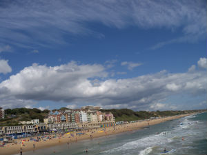View from the pier at Boscombe
