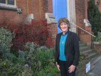 Revd Rosemary Fletcher outside MRMC