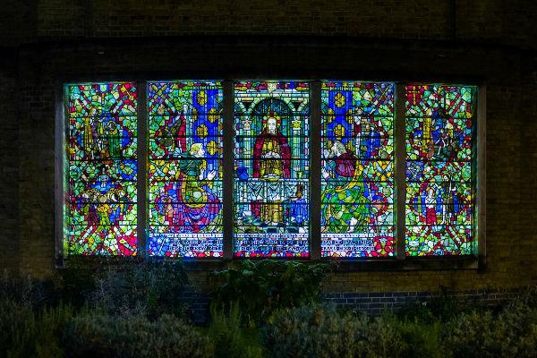 east window lighh shining through
