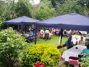 Barbecue in the vicarage garden 3rd July 2011