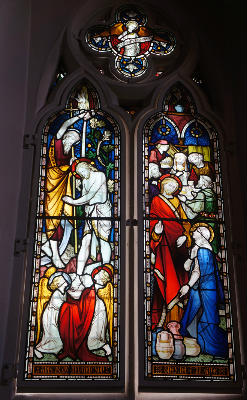 window baptism and wedding at Cana