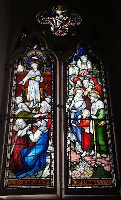 window Jesus going to Jerusalem