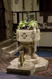 The font -Beautiful seasonal floral decoration 