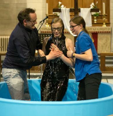 Our baptism service on April 30
