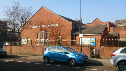 Church building on a sunny day