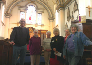 Church volunteers for Open Church