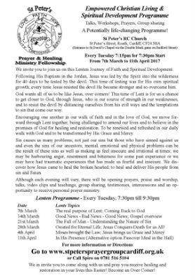 Lenten 2017 Talks