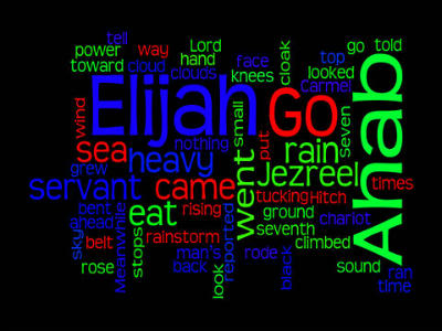 Elijah - Praying for rain