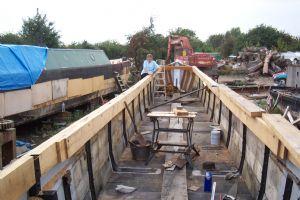 Maid of Oak being built