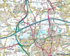Chevening Map