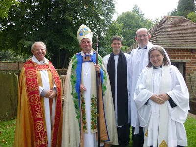 The ordinands with the Bishop