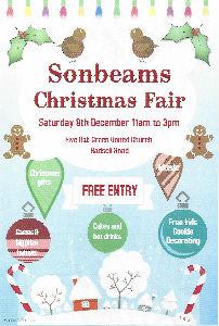 Sonbeams Fayre 9th December 11am - 3pm Five Oak Green United Church