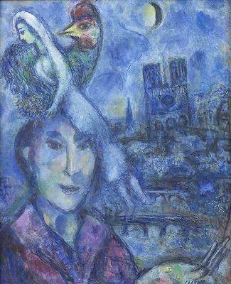 Marc Chagall: Self Portrait, Uffizi, Florence
