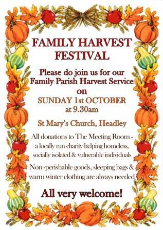 Joint Parish Harvest 2017