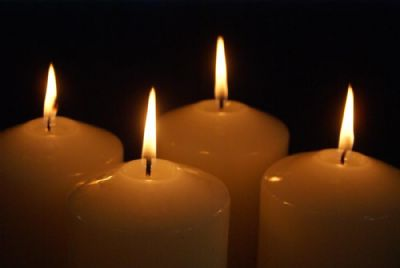 Advent candles 1