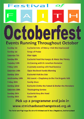 Details of October events for 2017