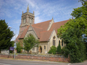 A view of the church from Crowthorne Road