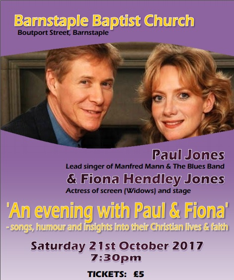 An Evening With Paul and Fiona Jones