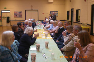 Harvest lunch in the church hall 2017