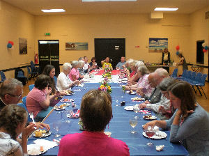 The Bring  Share lunch in June 2016 in our hall
