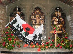 Window display for Remembrance Sunday 2017