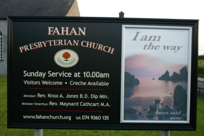 Fahan Church notice board