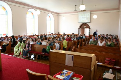 Childrens Day, Fahan. Church filling up at start of Ssrvice.