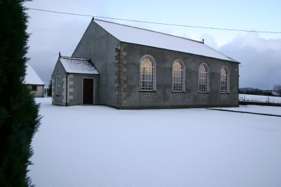 Fahan Presbyterian Church in the snow