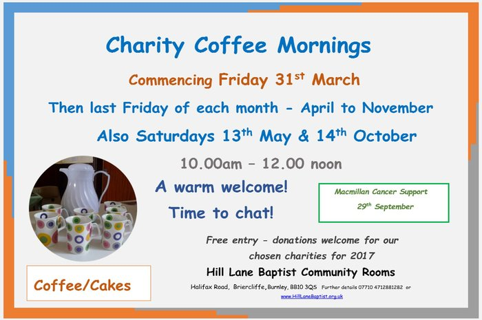 Charity Coffee Mornings