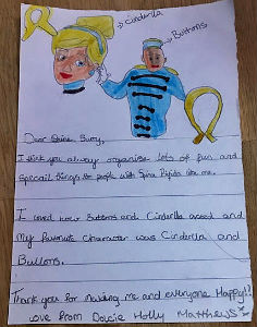 Childs thank you letter