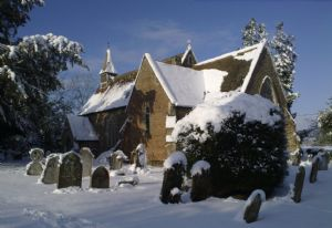 Holy Innocents Parish Church in the snows