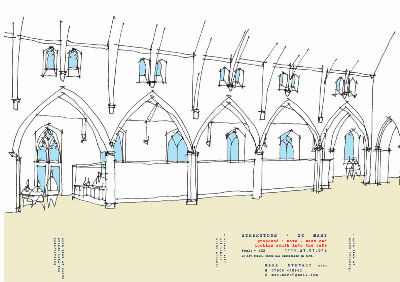 Proposed Cafe in West End of Nave
