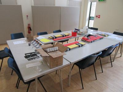Pentecost Festival church hall craft tables
