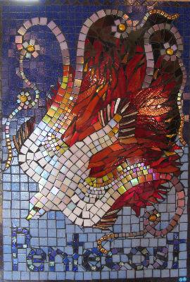 Pentecost mosaic by Alison Parry