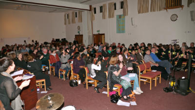 The congregation celebrating at our anniversary concert