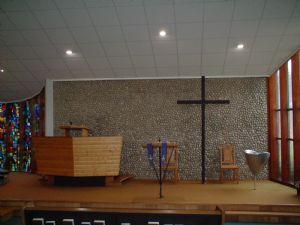 Pulpit, Cross, Font
