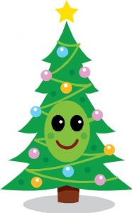 Christmas tree with smile