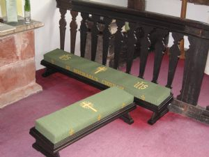 altar rail kneelers