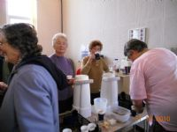 Serving coffee after Service