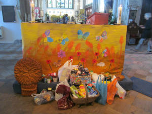 Messy Church Harvest Altar Frontal