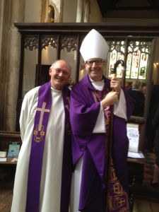 Bishop Richard Jackson and Canon David Frost