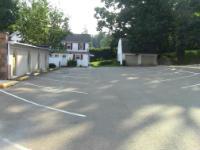 Church parking lot behind church