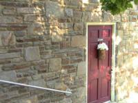 Normal entrance to church door