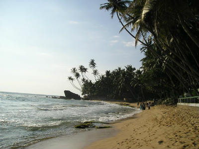 Beach in Sri Lanka. Consider ethical tourism when booking a holiday in Sri Lanka.